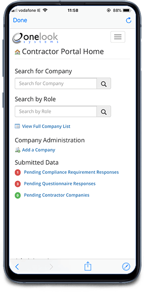 image of contractor self-management portal